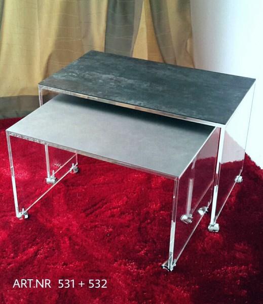 Zweisatz - Tisch auf Rollen